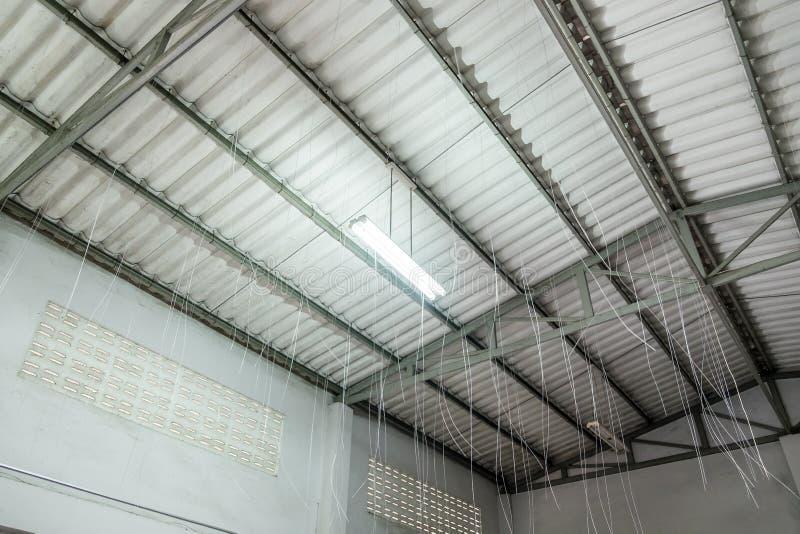 天花板大厦做里面结构 库存图片