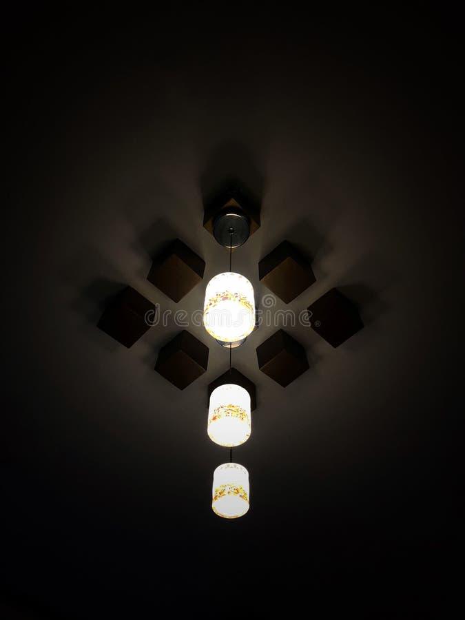 天花板灯 免版税库存照片