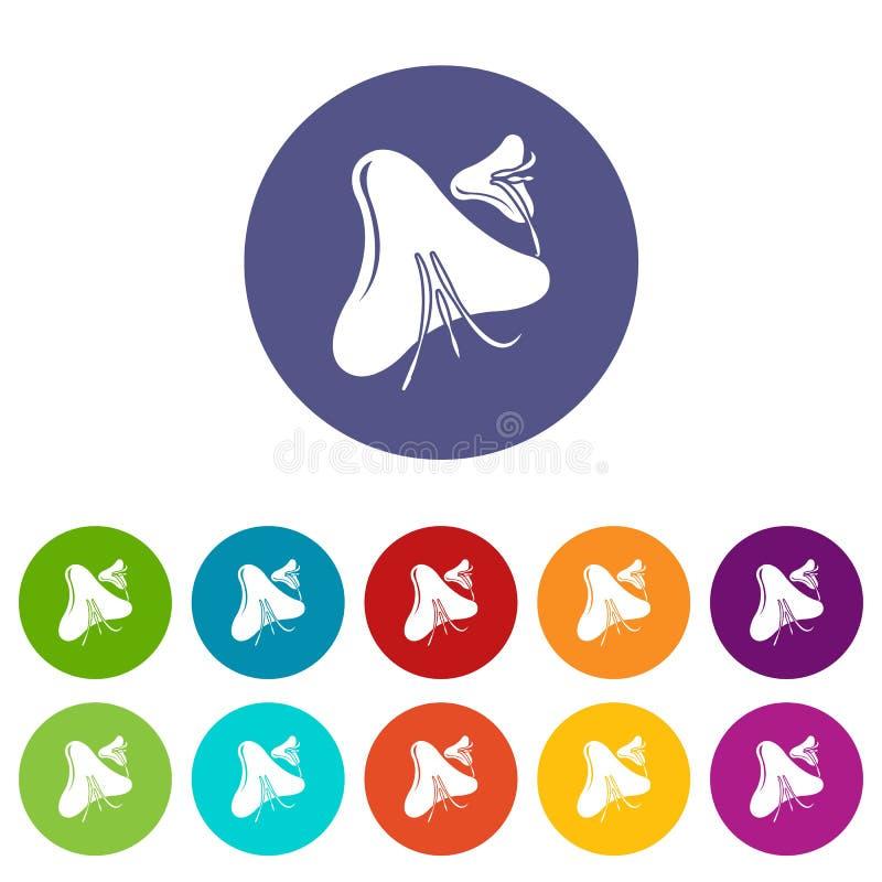 天花病毒象被设置的传染媒介颜色 向量例证