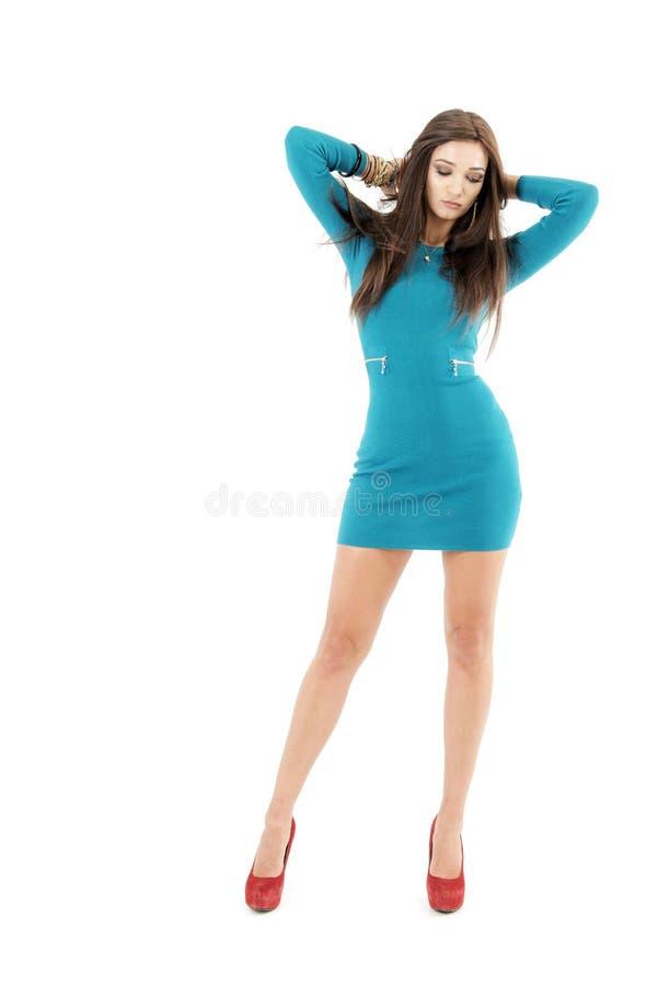 天蓝色的礼服 图库摄影