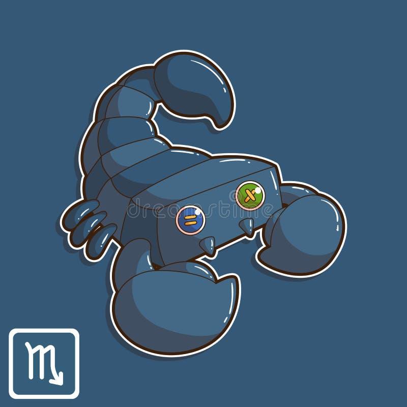 天蝎座黄道带占星传染媒介例证 库存照片