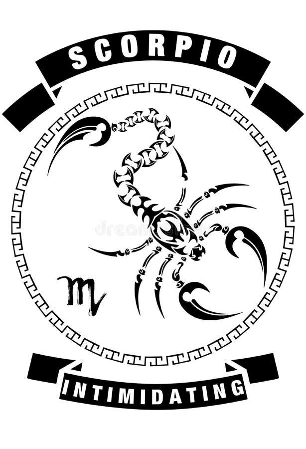 天蝎座T恤杉设计白色背景 免版税库存图片