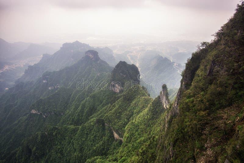 天门山风景和观点 免版税库存图片
