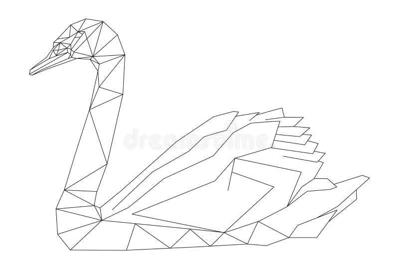 天鹅几何样式 库存例证