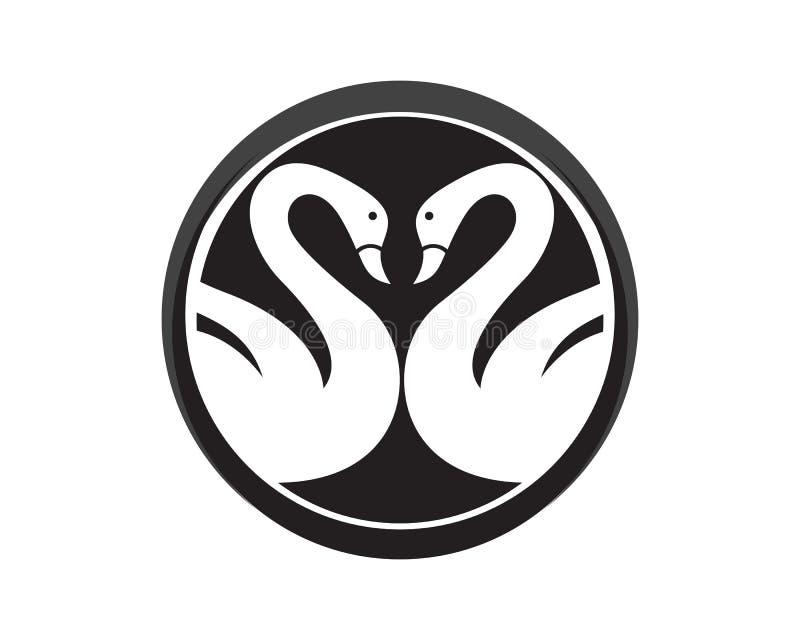 天鹅商标模板设计 皇族释放例证