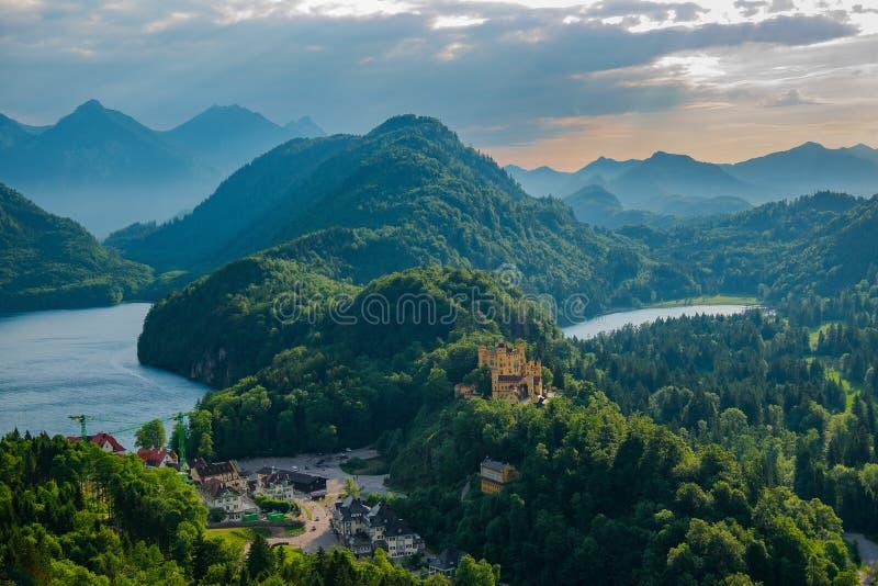天鹅石城堡 免版税库存图片