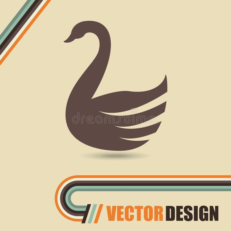 天鹅被隔绝的设计 向量例证