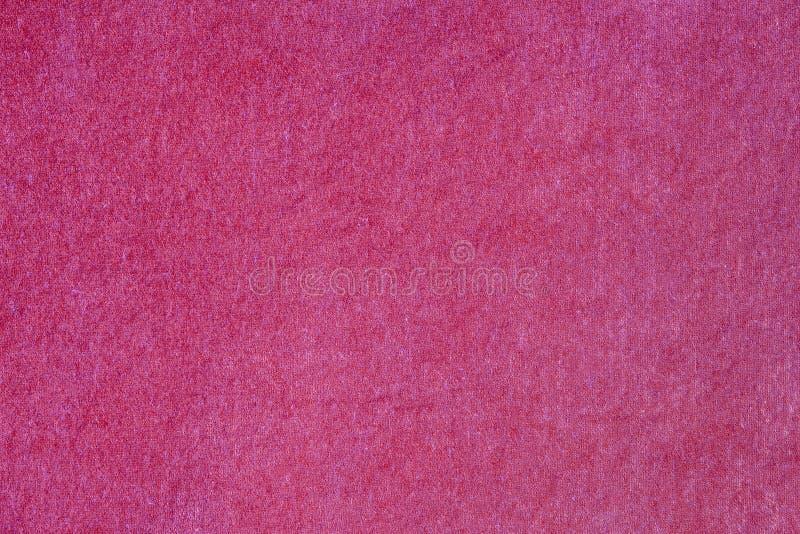 天鹅绒&豪华桃红色布料 库存照片