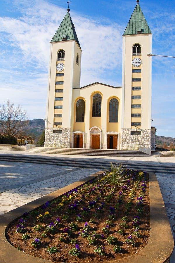 天主教会在Medjugorje 免版税库存图片