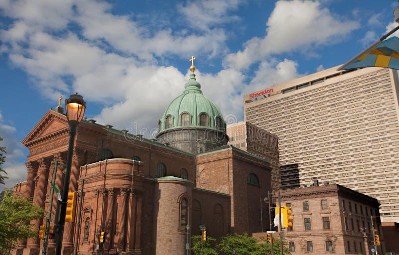 天主教地标在费城,宾夕法尼亚 库存图片