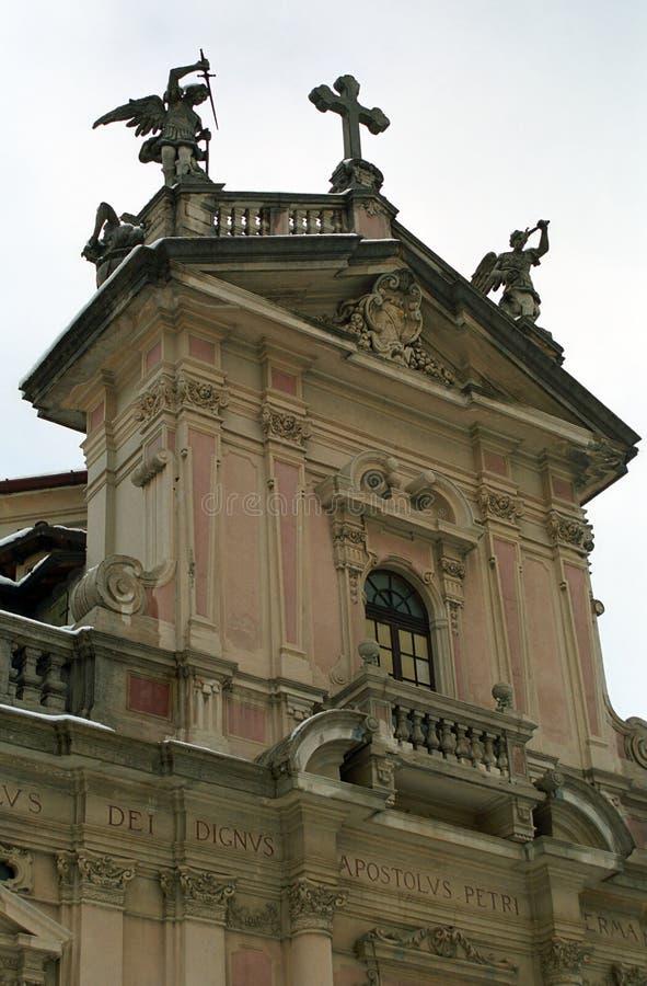 天主教堂,布鲁纳泰,意大利 免版税库存图片
