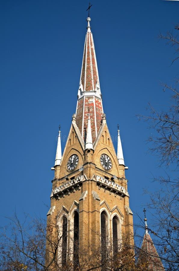 天主教堂, Backa托波拉,塞尔维亚 免版税库存照片