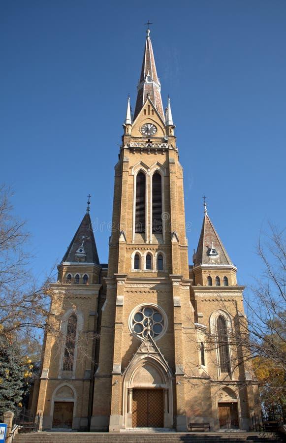 天主教堂, Backa托波拉,塞尔维亚 库存照片