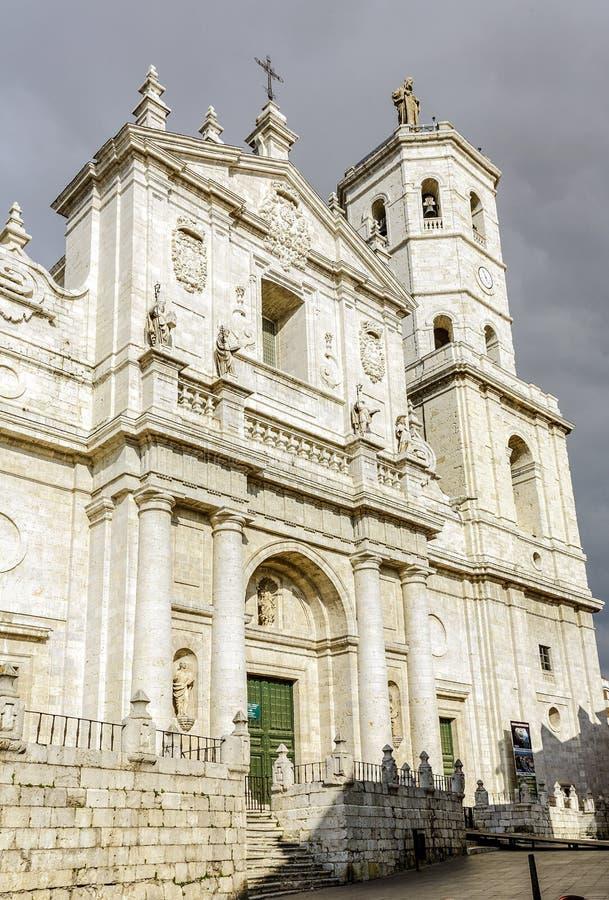 天主教大教堂在巴里阿多里德,西班牙 图库摄影