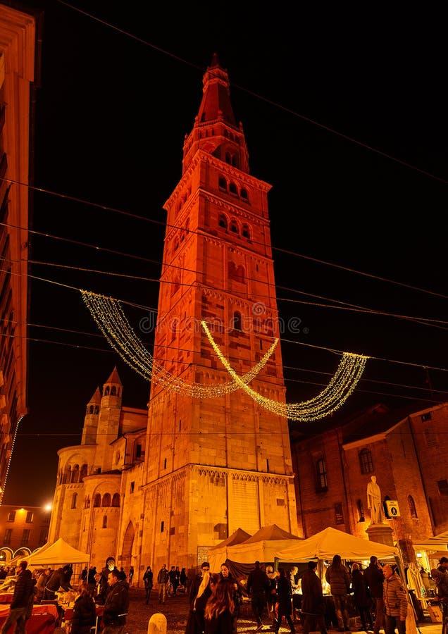 天主教大教堂(中央寺院)在摩德纳,意大利 图库摄影