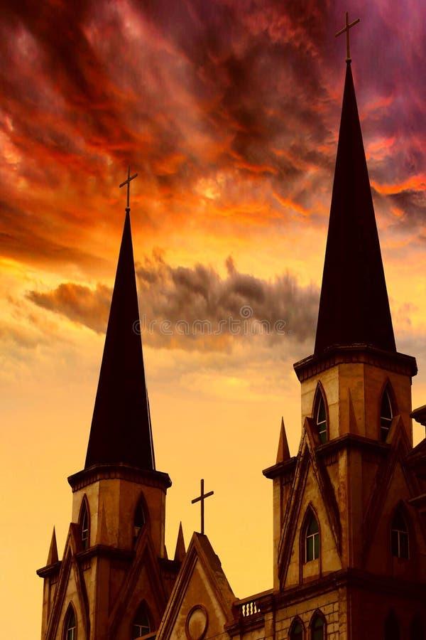 天主教教会 图库摄影