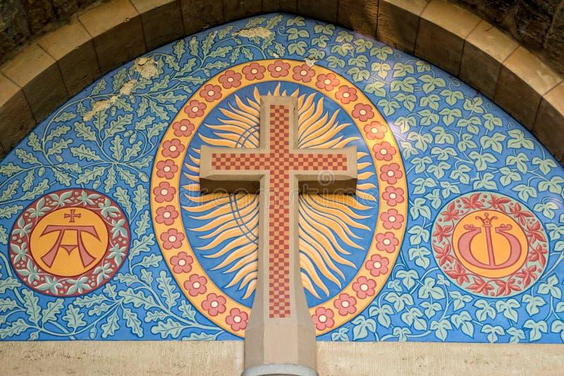 天主教横渡教会的入口 免版税库存图片