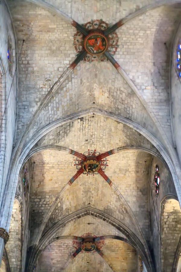 天主教的天花板 免版税库存图片