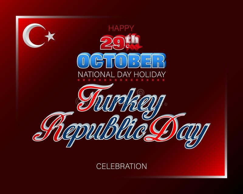 天10月第二十九,土耳其共和国,庆祝 皇族释放例证