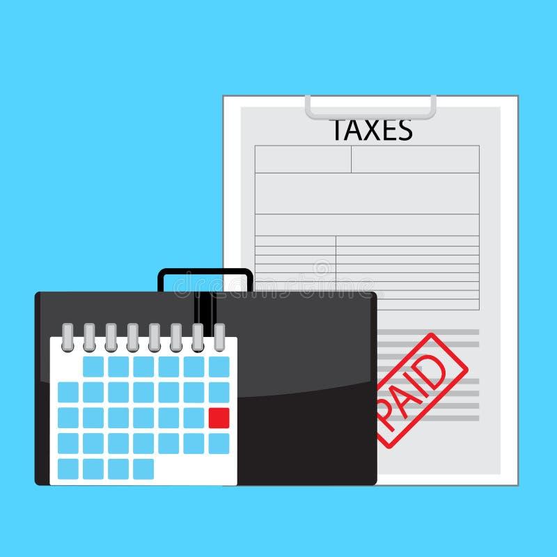 天付款税 向量例证