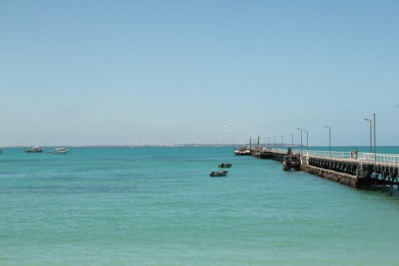 晴天beachport码头澳大利亚 免版税图库摄影