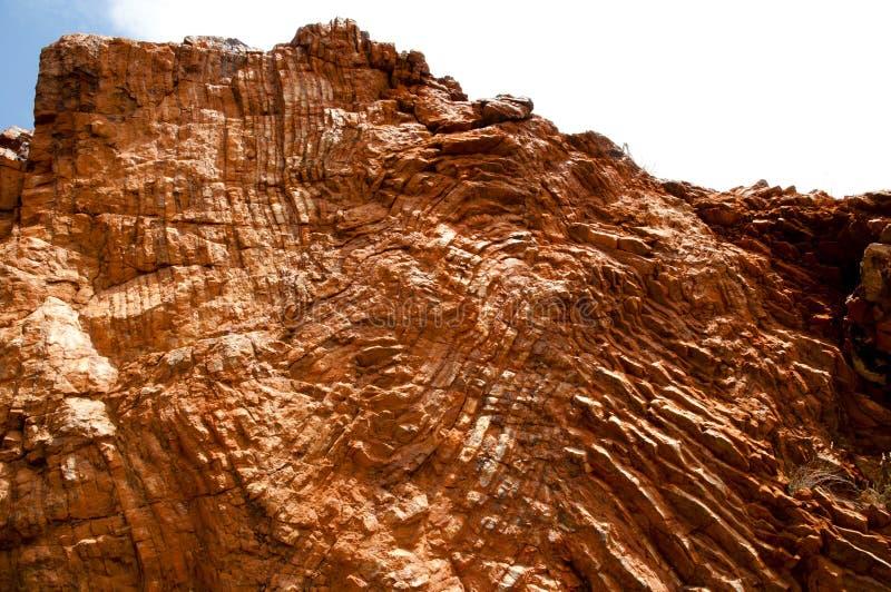 太古代的岩石可折叠-结构地质 免版税图库摄影