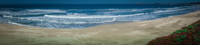 太平洋大瑟尔coatal海滩和风景 免版税库存照片