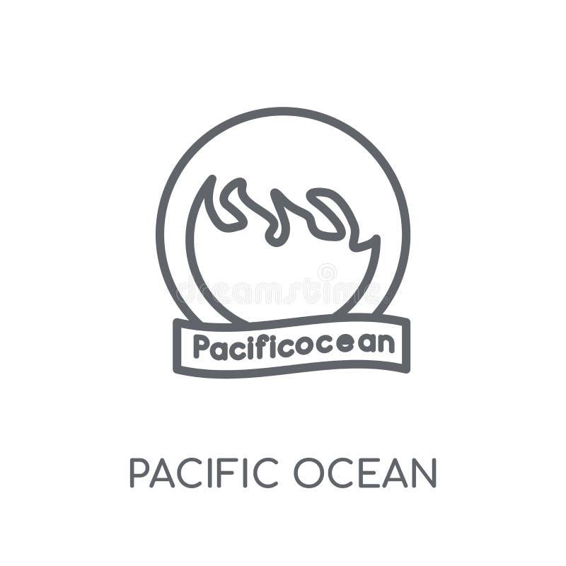 太平洋线性象 现代概述太平洋商标骗局 皇族释放例证