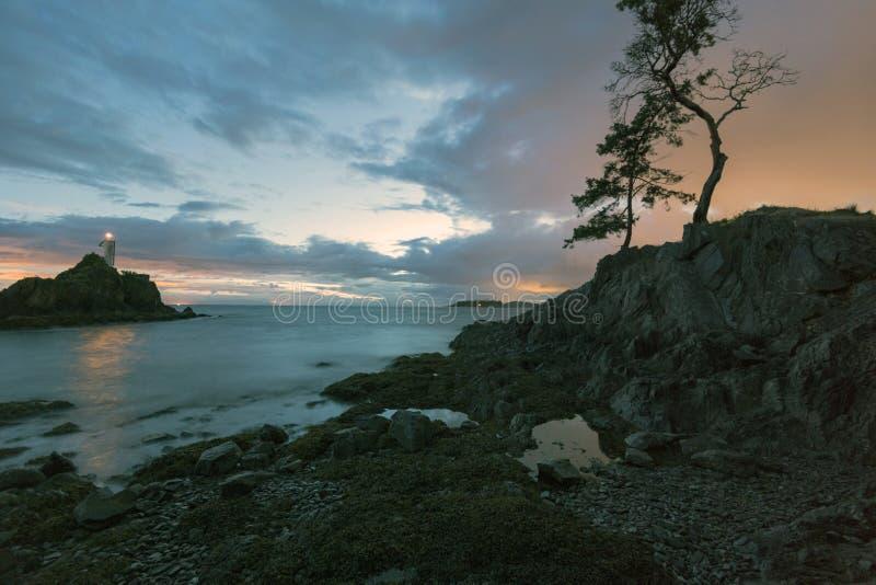 太平洋西北地区不列颠哥伦比亚省加拿大宝云岛的美好的风景scapes 免版税库存照片