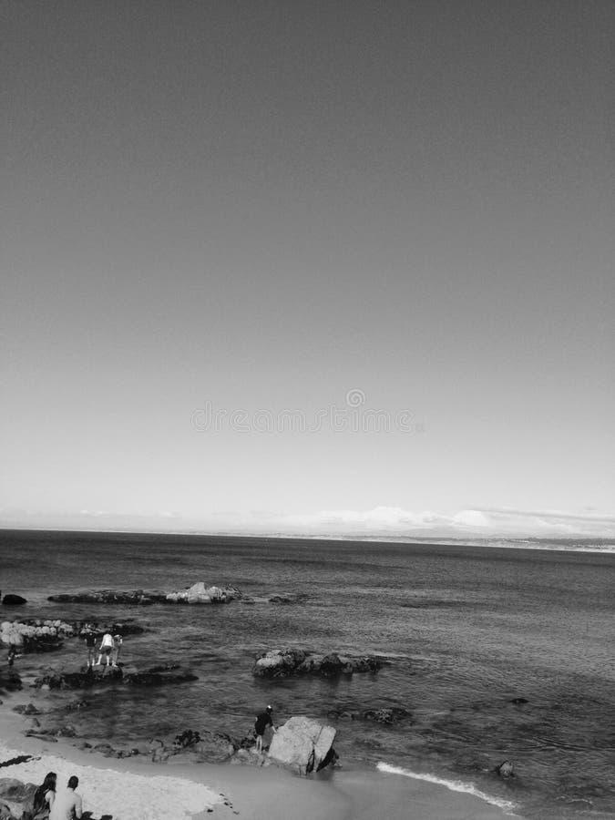 太平洋在中央加利福尼亚 库存照片