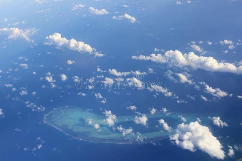 太平洋的未知的海岛 库存图片