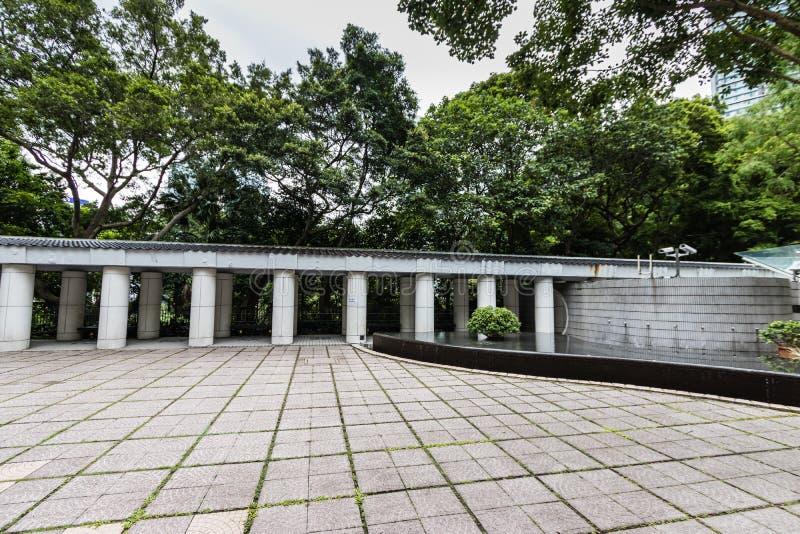 太极拳庭院,香港公园 免版税库存图片