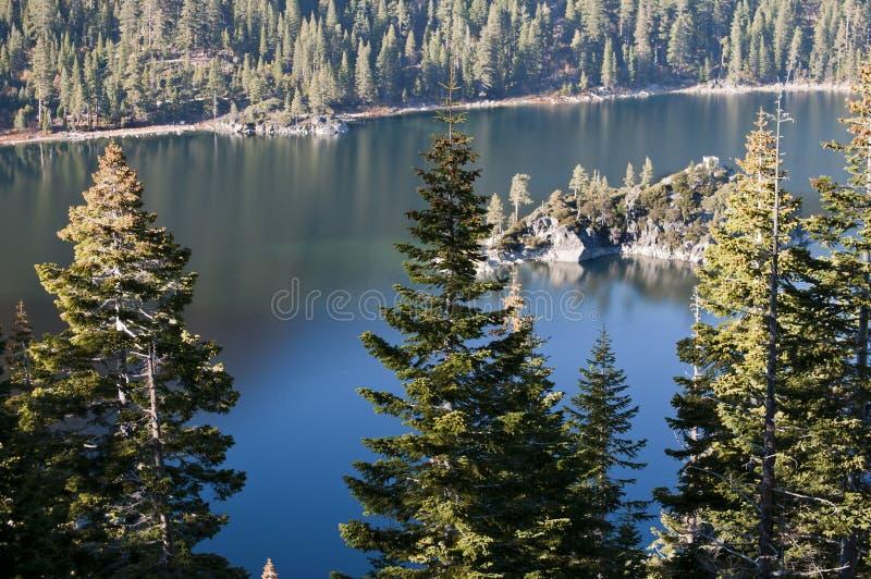 太浩湖风景视图 免版税图库摄影
