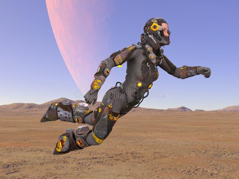太空人3D CG翻译  库存例证