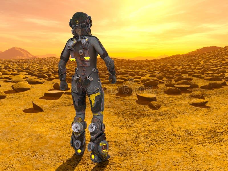 太空人3D CG翻译  向量例证