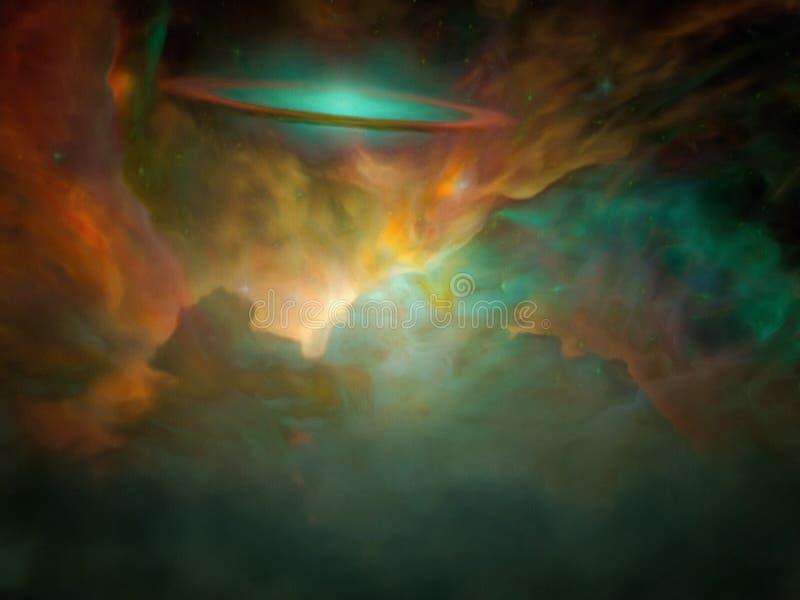 太空星群的场面 皇族释放例证