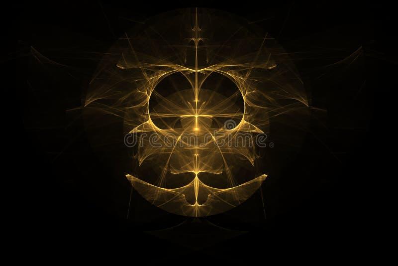 太空星群的象征黄色 向量例证