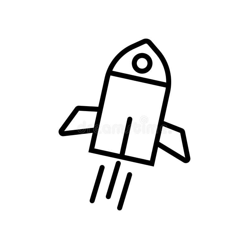 太空船在白色背景隔绝的象传染媒介,太空船标志 皇族释放例证