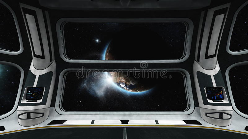 太空船 库存例证