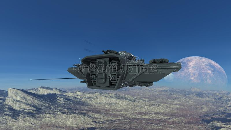 太空船3D CG翻译  向量例证