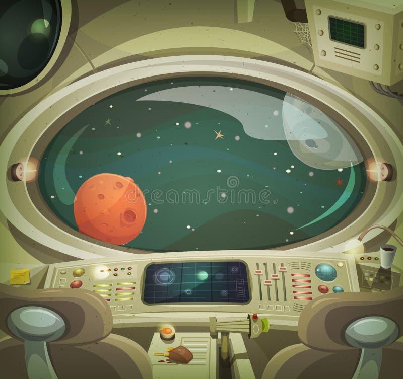 太空飞船内部 向量例证