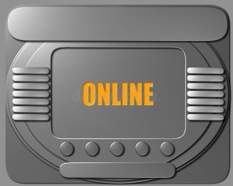 太空飞船在网上控制板 皇族释放例证