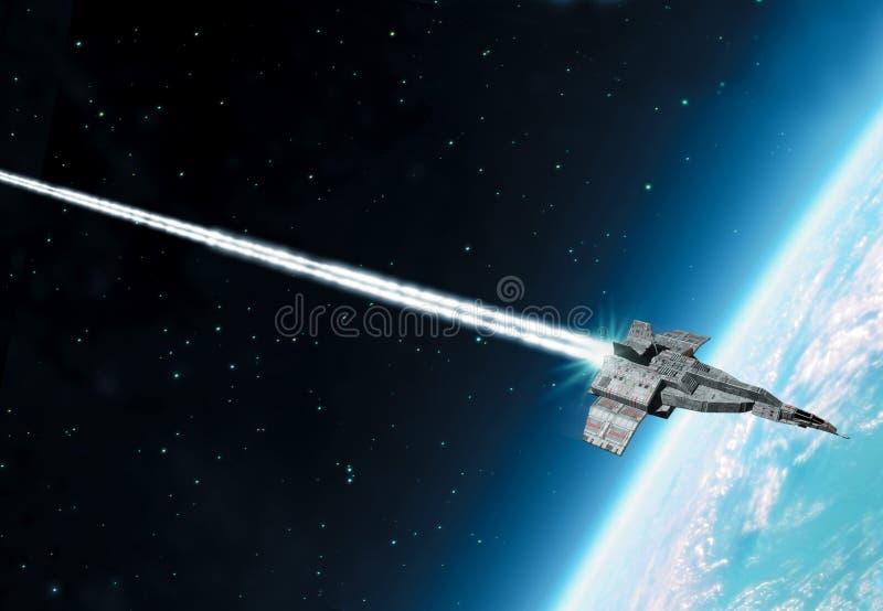 太空飞船地球大气 皇族释放例证