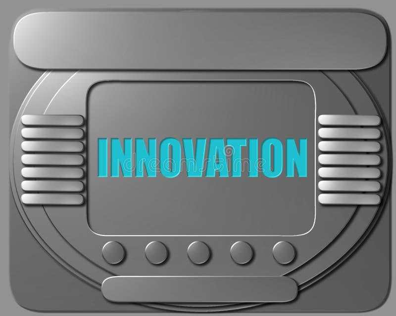 太空飞船控制板创新 向量例证