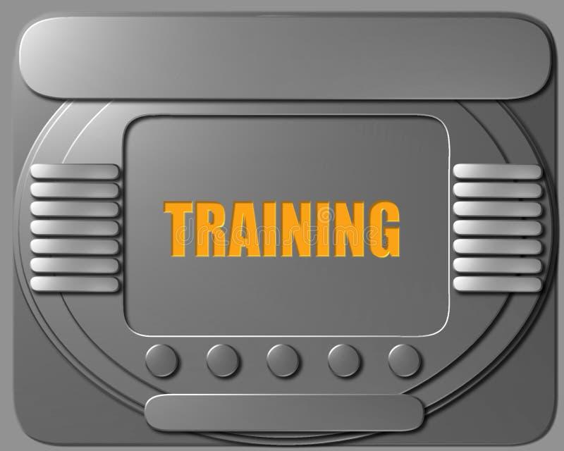太空飞船控制板训练 库存例证