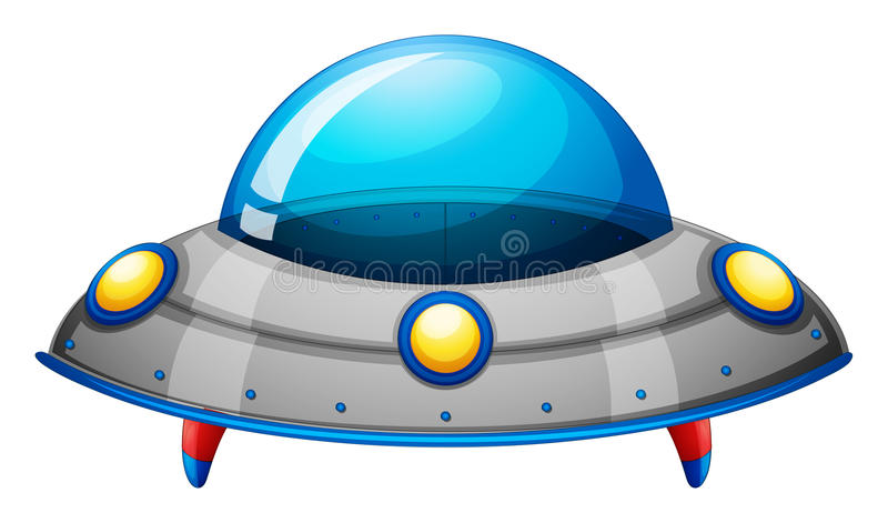 太空飞船玩具 向量例证