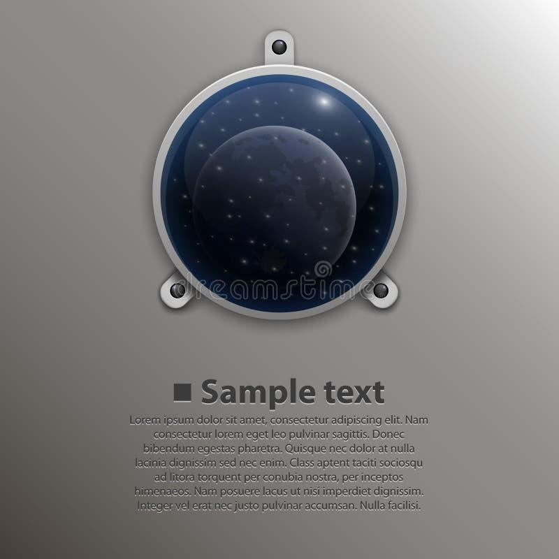 太空飞船窗口 向量 库存例证
