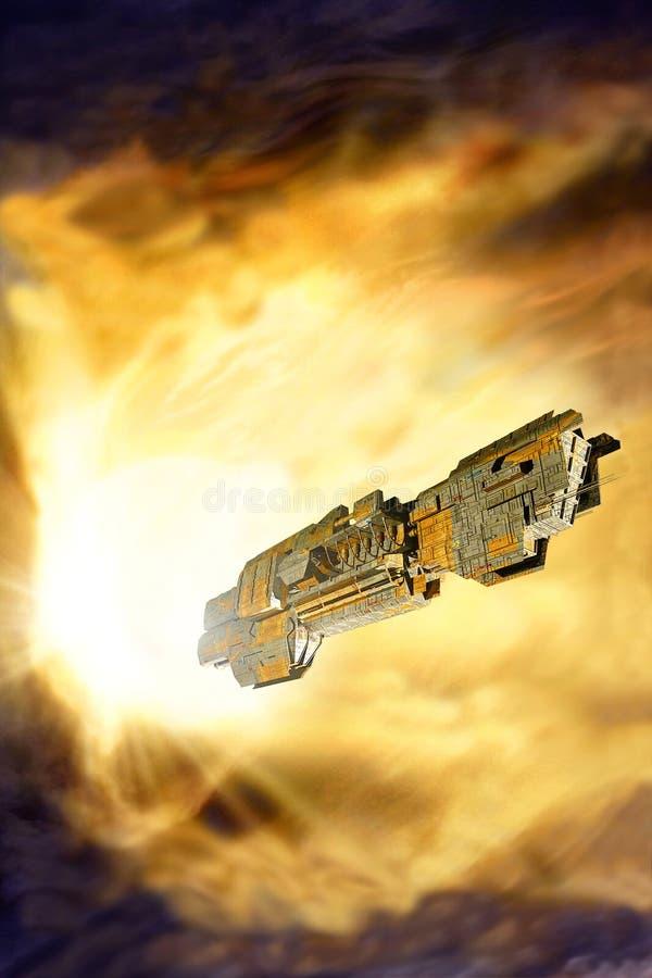 太空飞船经线 皇族释放例证