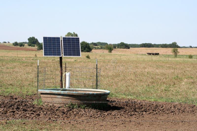 太阳供给动力的储蓄坦克 免版税库存照片
