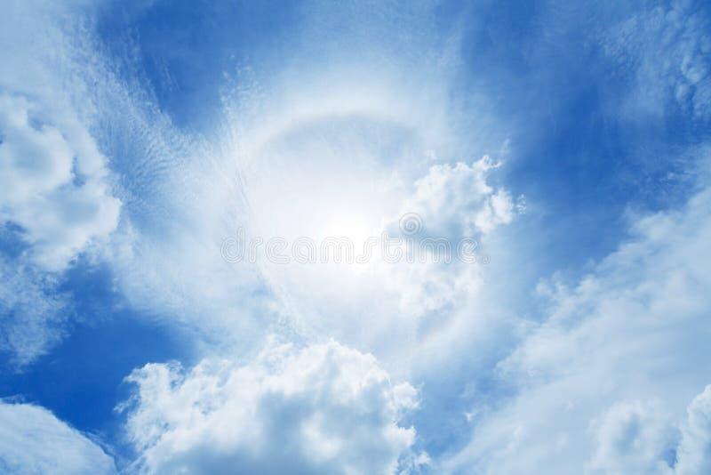太阳光晕 免版税库存照片